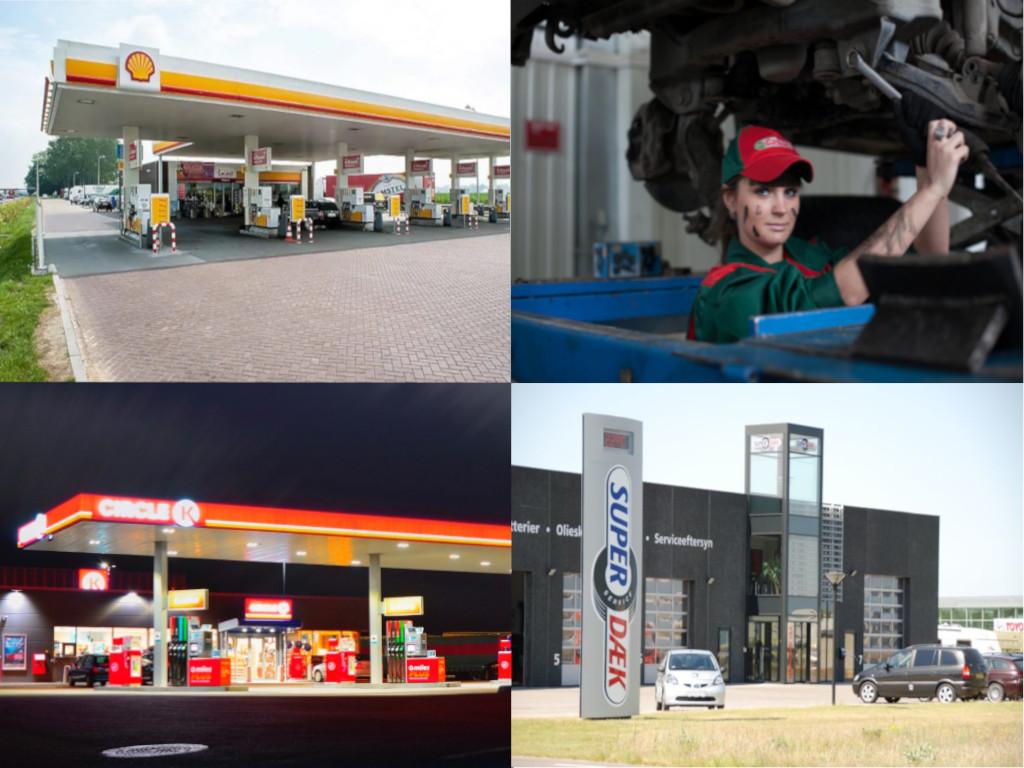 Salg til autoværksteder og tankstationer